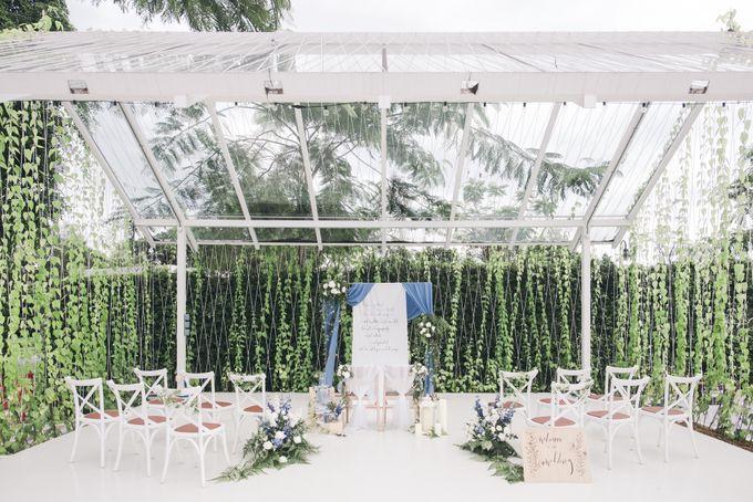 Dusty Blue Winter Theme Wedding by Le Conte Decor - 009