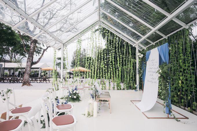 Dusty Blue Winter Theme Wedding by Le Conte Decor - 011