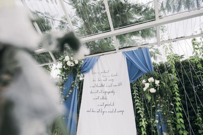 Dusty Blue Winter Theme Wedding by Le Conte Decor - 012