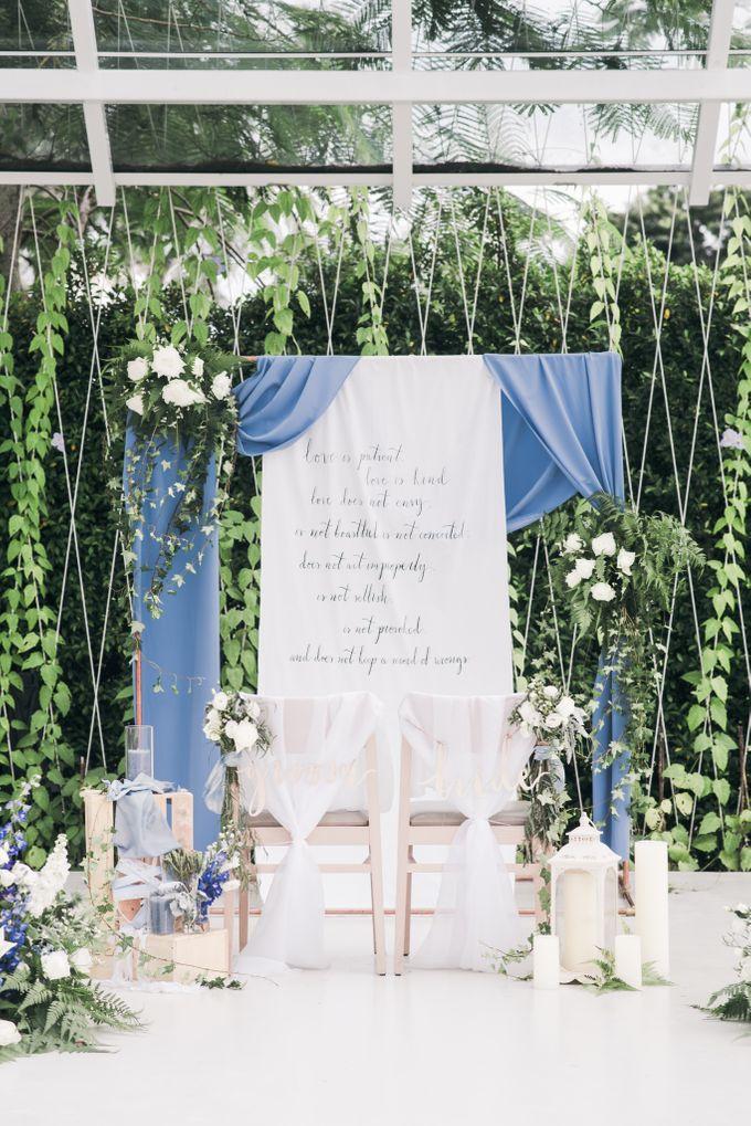 Dusty Blue Winter Theme Wedding by Le Conte Decor - 013