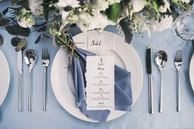 Dusty Blue Winter Theme Wedding by Le Conte Decor - 018