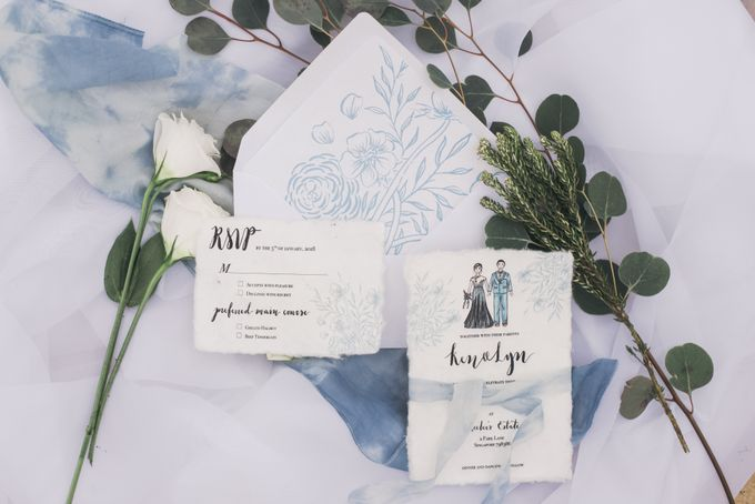 Dusty Blue Wintry Theme Styled Shoot with Bridestory by Ever & Blue Floral Design - 037