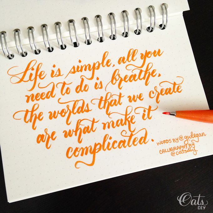 Brush Calligraphy by Oats DIY - 001