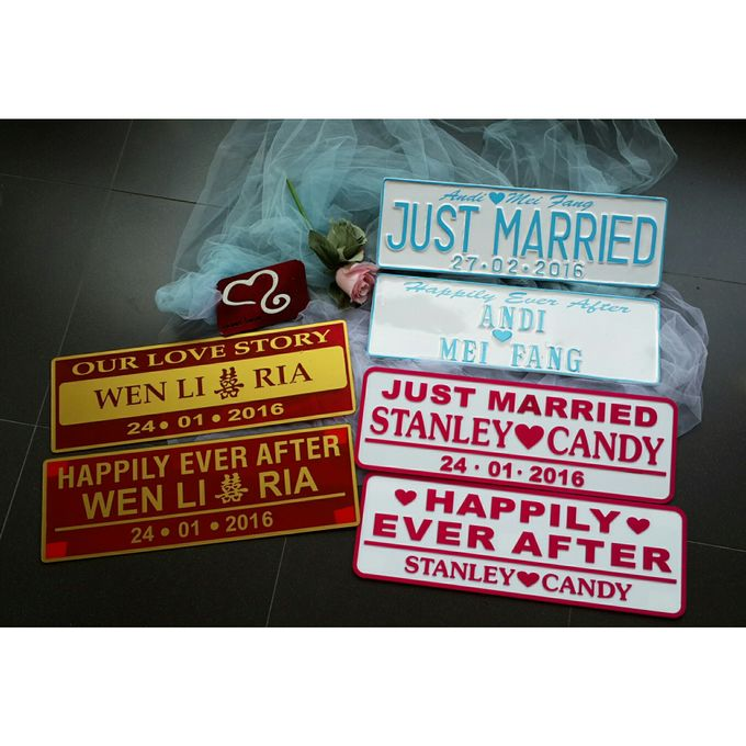 Wedding Car Plate by Sweetlovecollection - 011