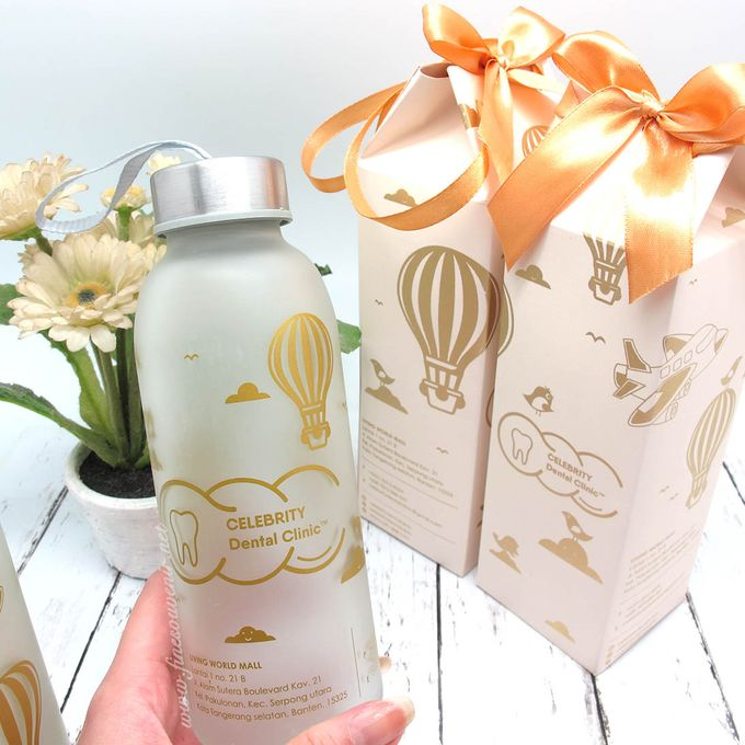 Frosted Drinking Bottle Jumbo Include Paperbag by Fine Souvenir - 003