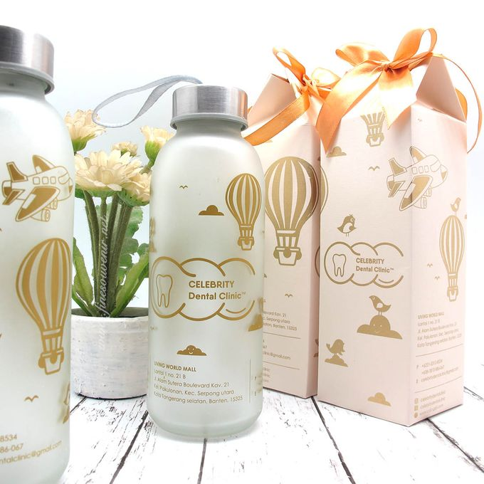 Frosted Drinking Bottle Jumbo Include Paperbag by Fine Souvenir - 002