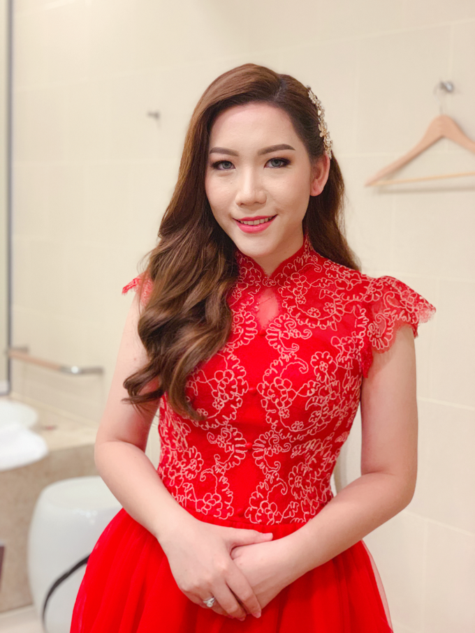 Gorgeous on red dress  by Bypattcia - 001