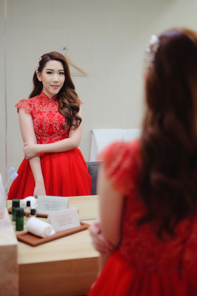 Gorgeous on red dress  by Bypattcia - 002