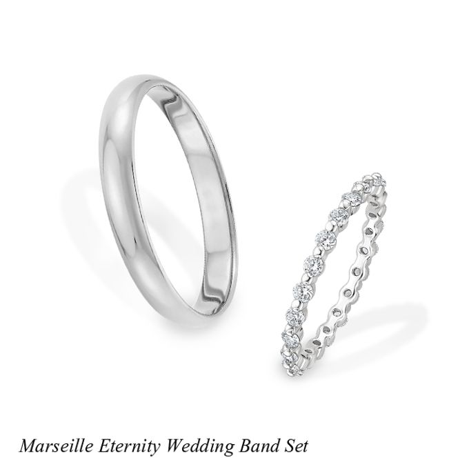DIAMOND WEDDING BAND SET by Mirage Jeweler - 011