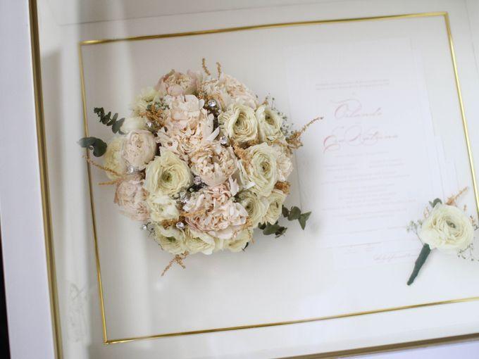 Classy and Elegant Blush Bouquet by Camila V Flower Preservation Studio - 001