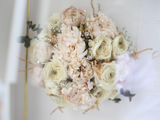 Classy and Elegant Blush Bouquet by Camila V Flower Preservation Studio - 002