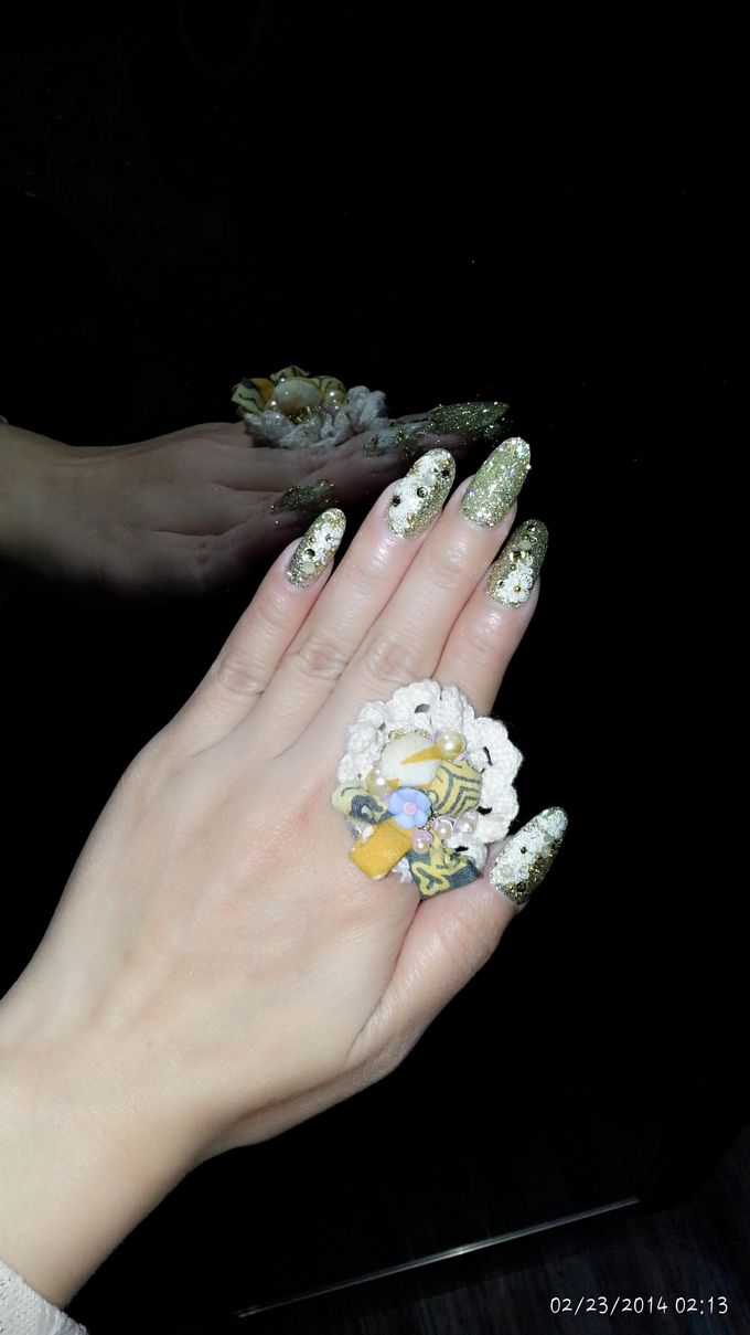 3D Nail art for wedding day by Luz Bello 3D Nail Art-Extension - 037
