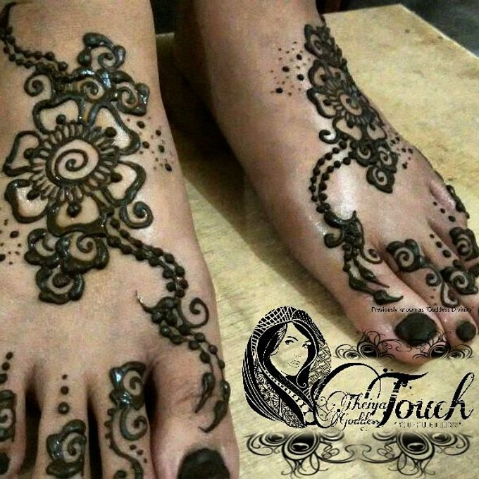 Henna Artwork Designing by Theiya Goddess Touch - 001
