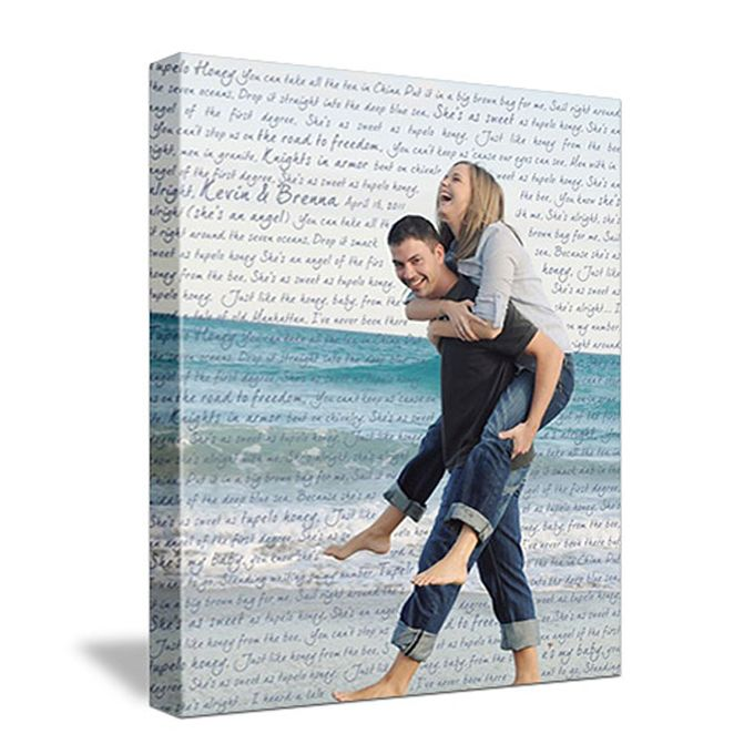 Wedding Photo First Dance Canvas Wedding Vow Art Gift for Husband by Geezees Custom Canvas - 002