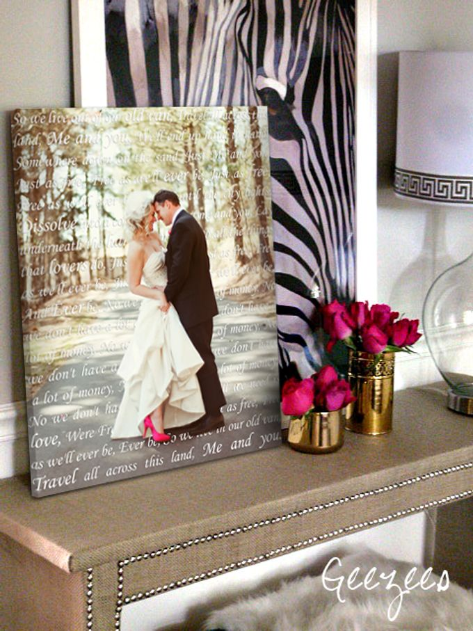 Wedding Photo First Dance Canvas Wedding Vow Art Gift for Husband by Geezees Custom Canvas - 003