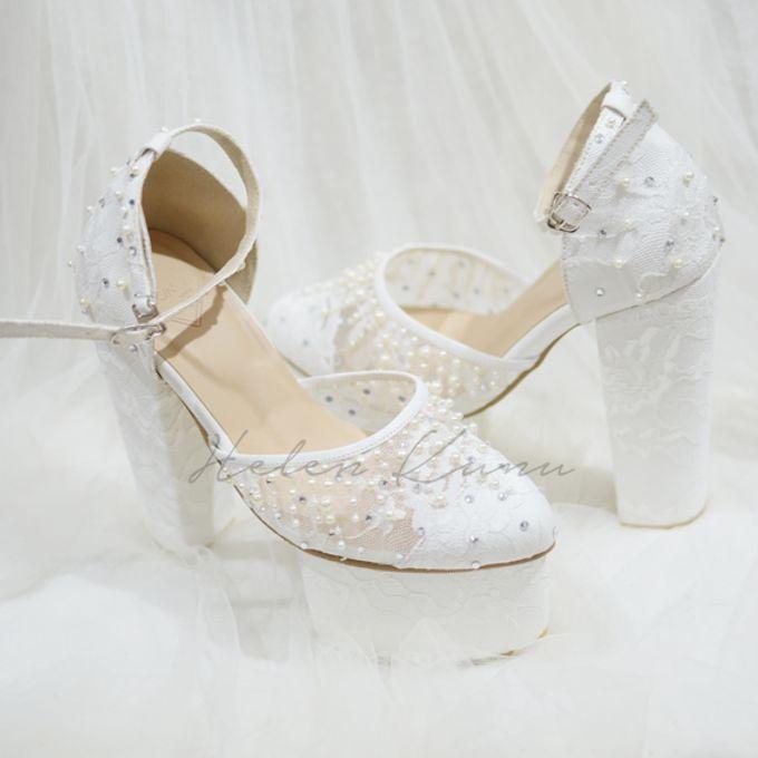 PRISKILA white Heels  by Helen Kunu by Kunu Looks - 007