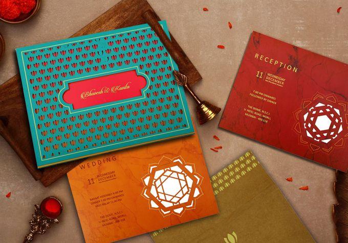 Beautiful Designer Wedding Invitations - IndianWeddingCards by IndianWeddingCards - 004