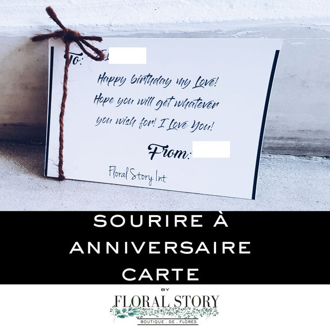 Sourire a Anniversaire by Floral Story Int - 004