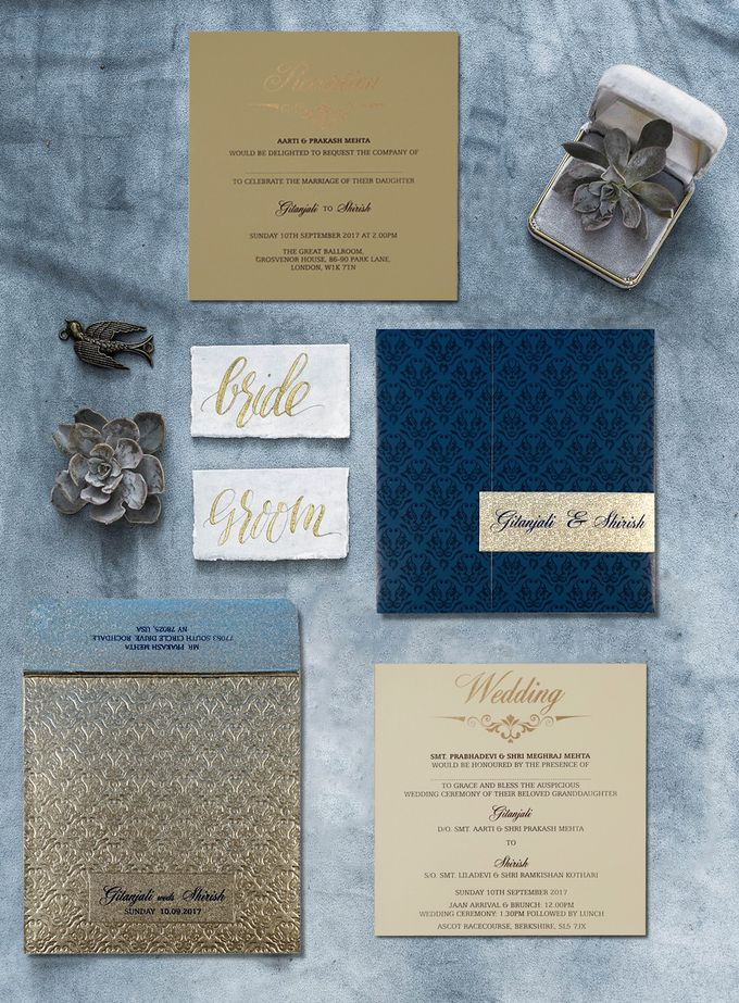 Beautiful Designer Wedding Invitations - IndianWeddingCards by IndianWeddingCards - 001