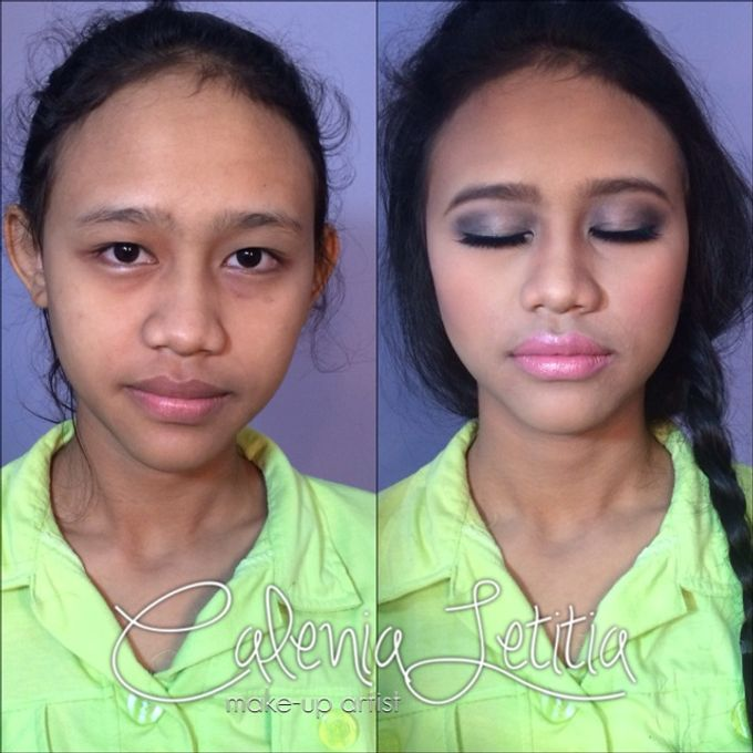 Before - After Makeup by Calenia Letitia Makeup Artist - 005