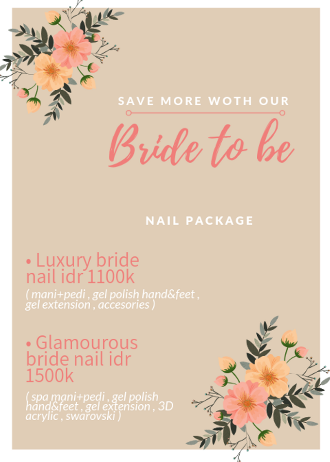 Bride to be nails package by Malvé - 001