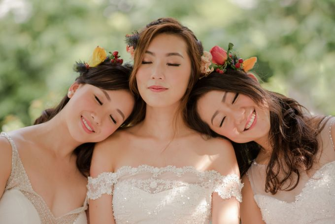 Three Beautiful Brides by Jennis Wong Makeup - 002