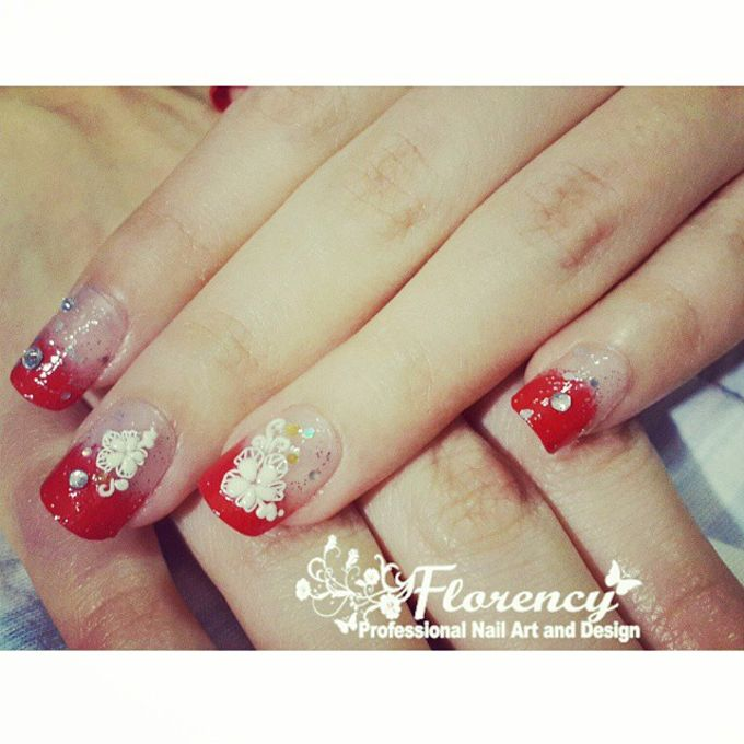 Red Wedding Nails By Florency Nailart Bridestory Com
