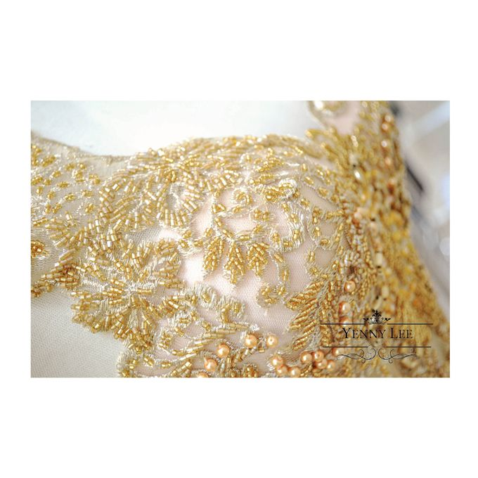Gold - Champagne Couture Evening Gown by Yenny Lee Bridal Couture - 003