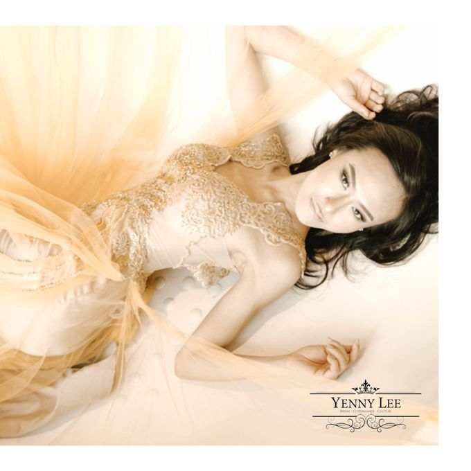 Gold - Champagne Couture Evening Gown by Yenny Lee Bridal Couture - 002
