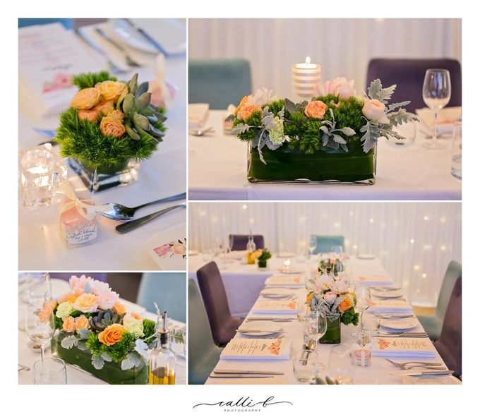 An Ebb wedding with mint and peach by Ginger Lily & Rose Floral Studio - 002