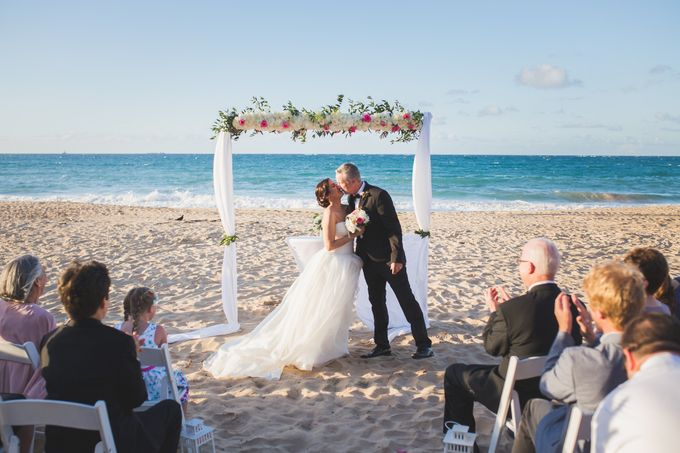 Romantic destination wedding on the beach by Weddings by AMR - 004