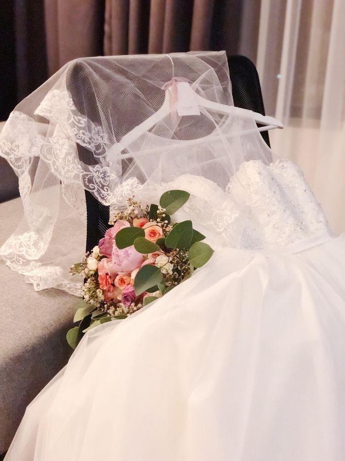 Bride Chai Kee - Sleeveless Tea Length Wedding Dress - Dentelle Bridal by Chester Kher Creations - 001