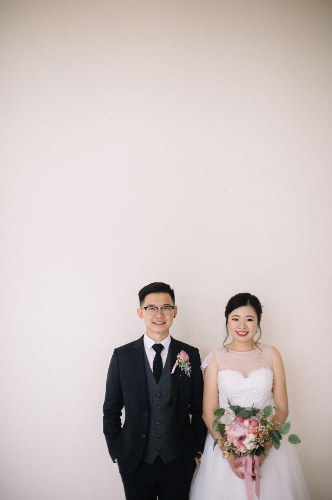 Bride Chai Kee - Sleeveless Tea Length Wedding Dress - Dentelle Bridal by Chester Kher Creations - 002