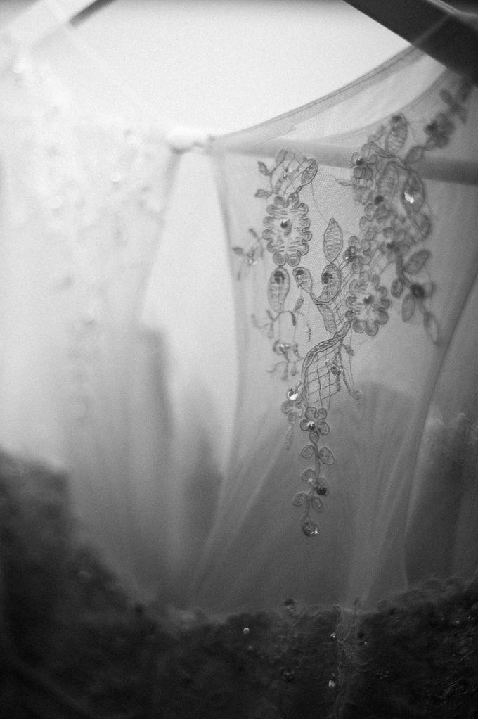 Bride Chai Kee - Sleeveless Tea Length Wedding Dress - Dentelle Bridal by Chester Kher Creations - 003