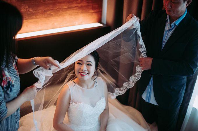 Bride Chai Kee - Sleeveless Tea Length Wedding Dress - Dentelle Bridal by Chester Kher Creations - 012