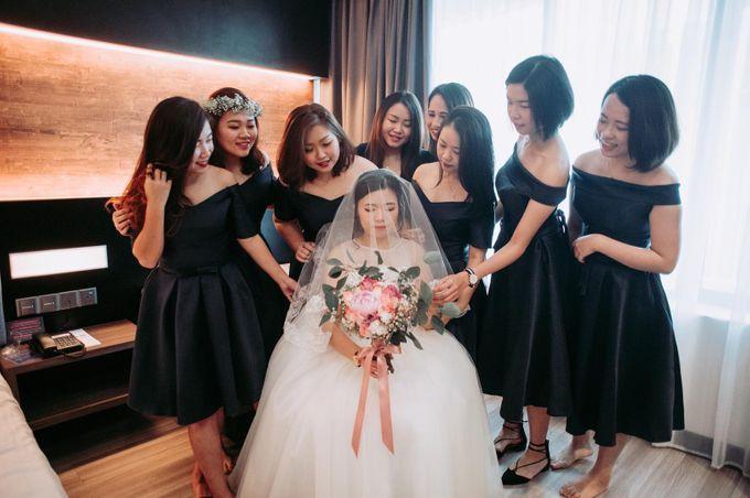 Bride Chai Kee - Sleeveless Tea Length Wedding Dress - Dentelle Bridal by Chester Kher Creations - 013