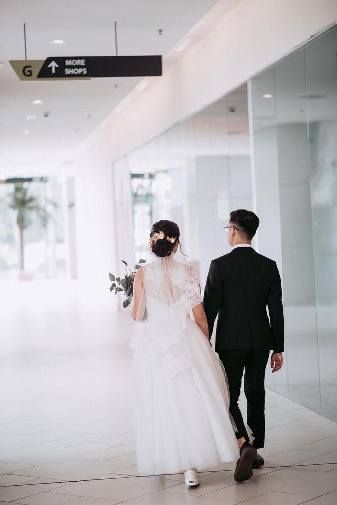 Bride Chai Kee - Sleeveless Tea Length Wedding Dress - Dentelle Bridal by Chester Kher Creations - 014