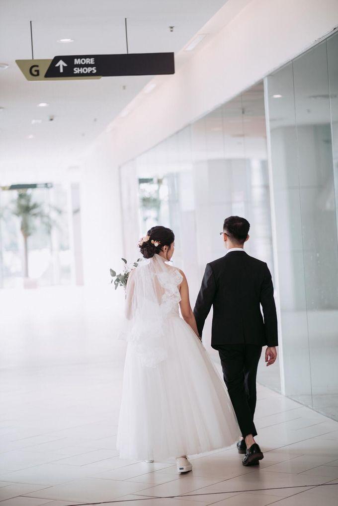Bride Chai Kee - Sleeveless Tea Length Wedding Dress - Dentelle Bridal by Chester Kher Creations - 015