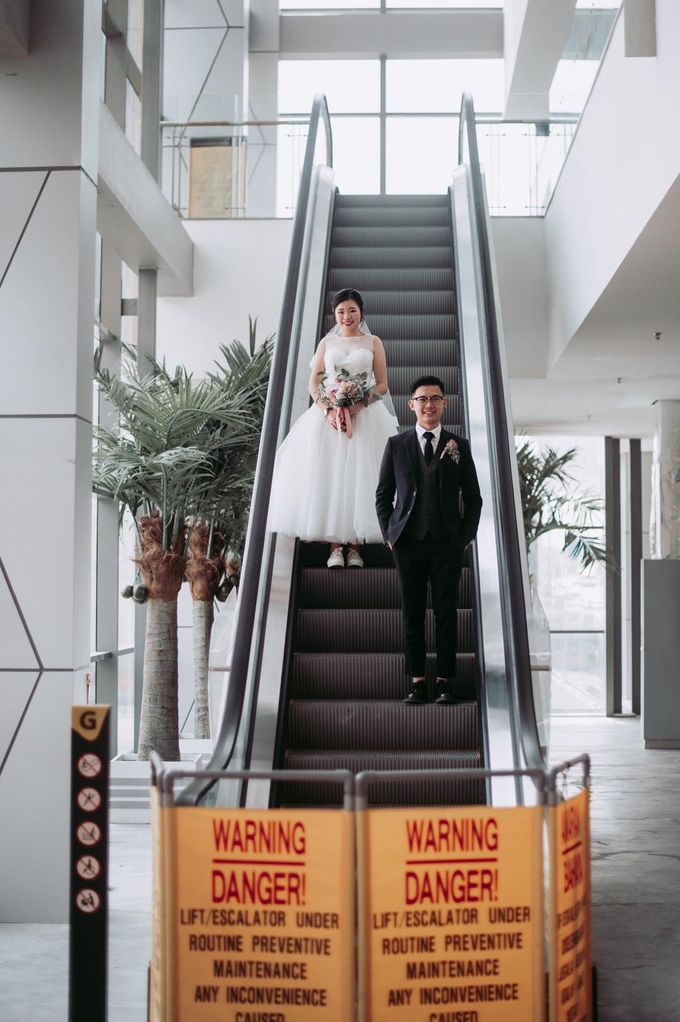 Bride Chai Kee - Sleeveless Tea Length Wedding Dress - Dentelle Bridal by Chester Kher Creations - 016