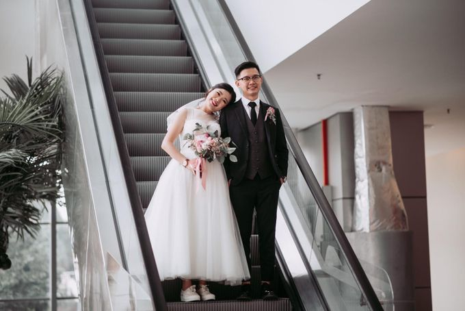 Bride Chai Kee - Sleeveless Tea Length Wedding Dress - Dentelle Bridal by Chester Kher Creations - 017