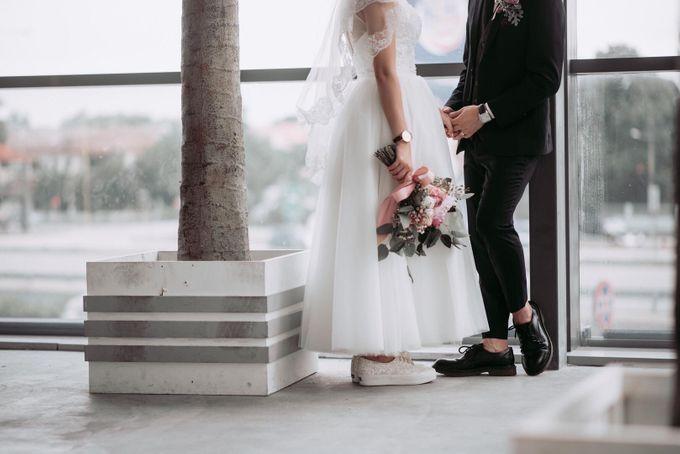 Bride Chai Kee - Sleeveless Tea Length Wedding Dress - Dentelle Bridal by Chester Kher Creations - 018