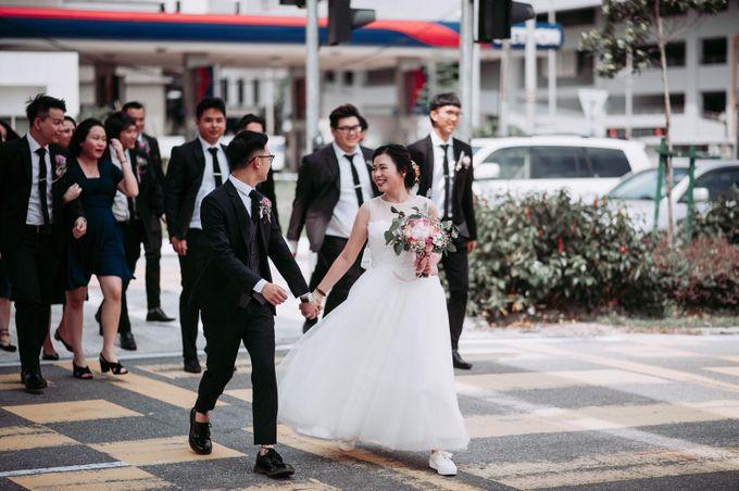 Bride Chai Kee - Sleeveless Tea Length Wedding Dress - Dentelle Bridal by Chester Kher Creations - 020