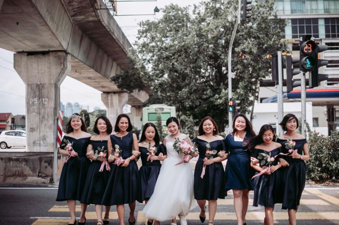 Bride Chai Kee - Sleeveless Tea Length Wedding Dress - Dentelle Bridal by Chester Kher Creations - 021
