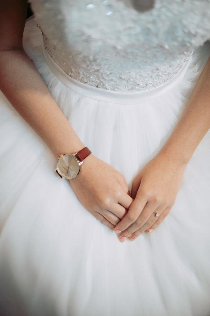 Bride Chai Kee - Sleeveless Tea Length Wedding Dress - Dentelle Bridal by Chester Kher Creations - 004