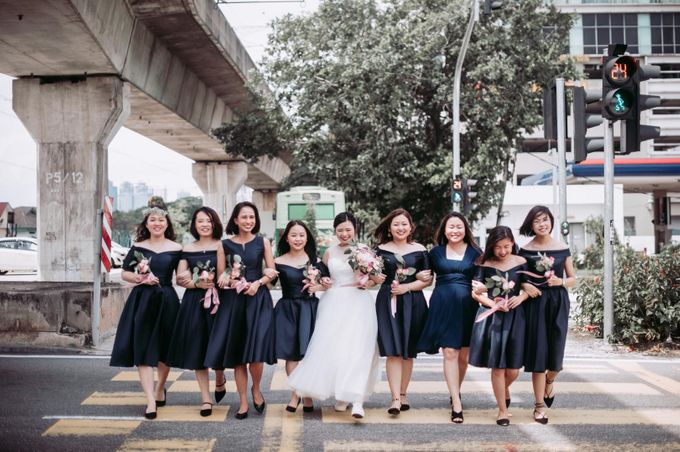 Bride Chai Kee - Sleeveless Tea Length Wedding Dress - Dentelle Bridal by Chester Kher Creations - 022