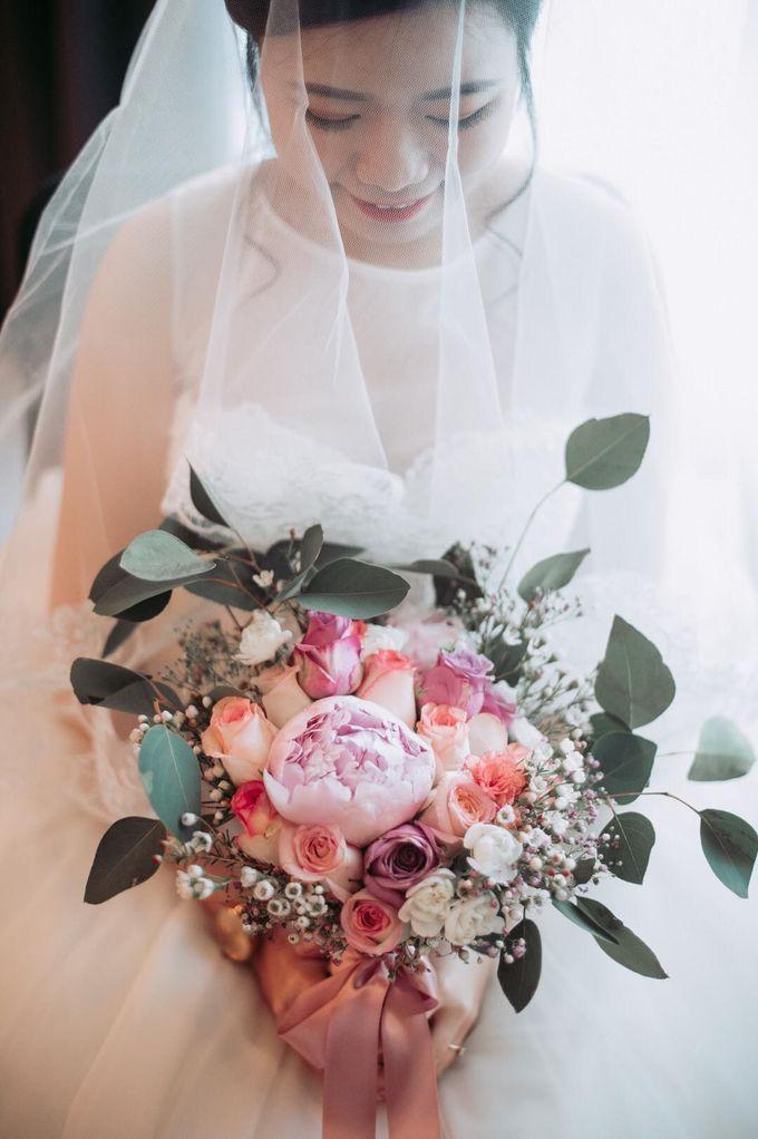 Bride Chai Kee - Sleeveless Tea Length Wedding Dress - Dentelle Bridal by Chester Kher Creations - 005