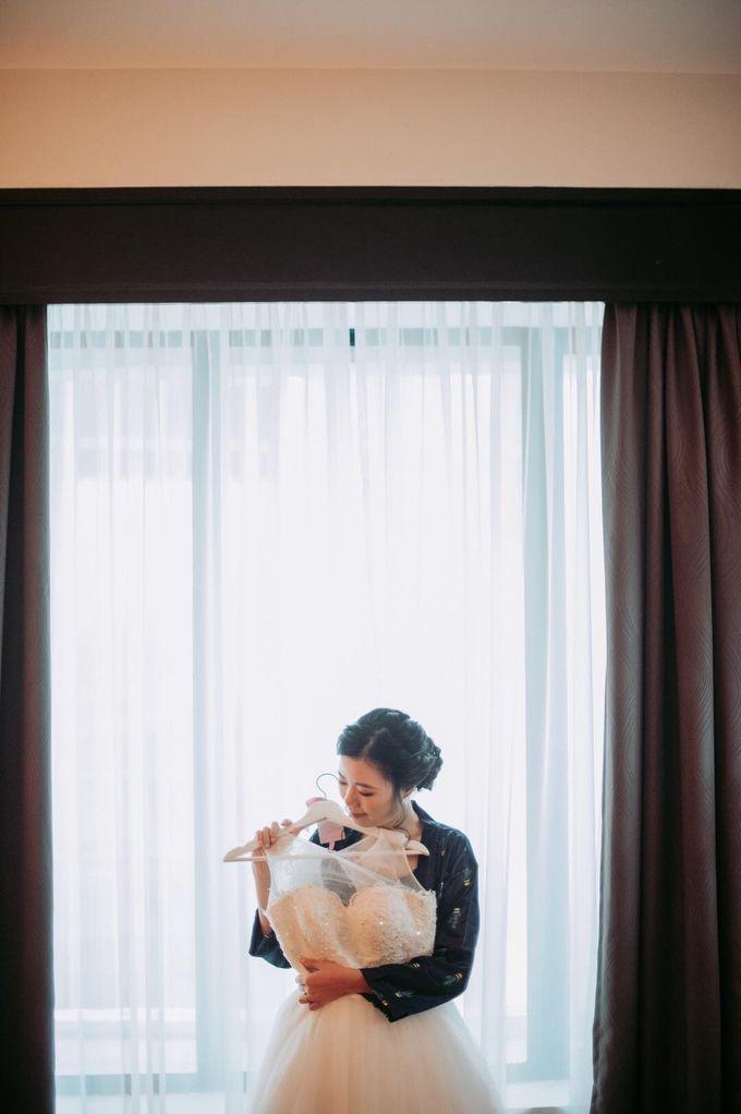 Bride Chai Kee - Sleeveless Tea Length Wedding Dress - Dentelle Bridal by Chester Kher Creations - 008