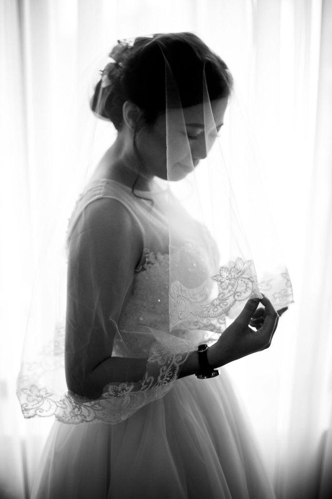 Bride Chai Kee - Sleeveless Tea Length Wedding Dress - Dentelle Bridal by Chester Kher Creations - 009
