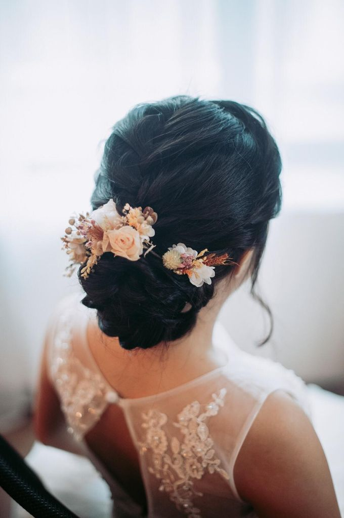 Bride Chai Kee - Sleeveless Tea Length Wedding Dress - Dentelle Bridal by Chester Kher Creations - 010