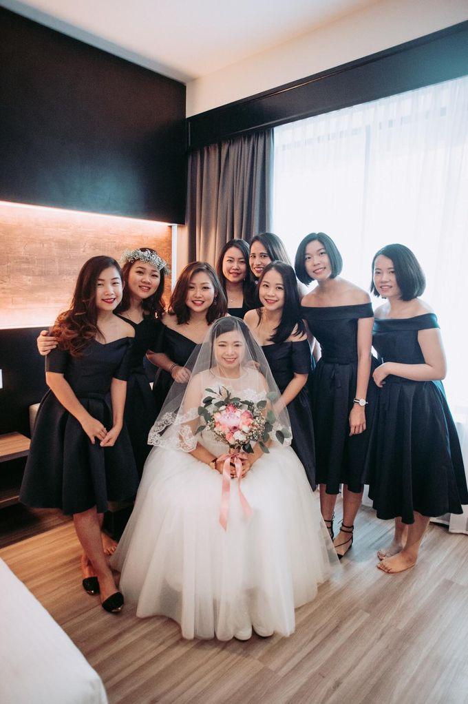 Bride Chai Kee - Sleeveless Tea Length Wedding Dress - Dentelle Bridal by Chester Kher Creations - 011